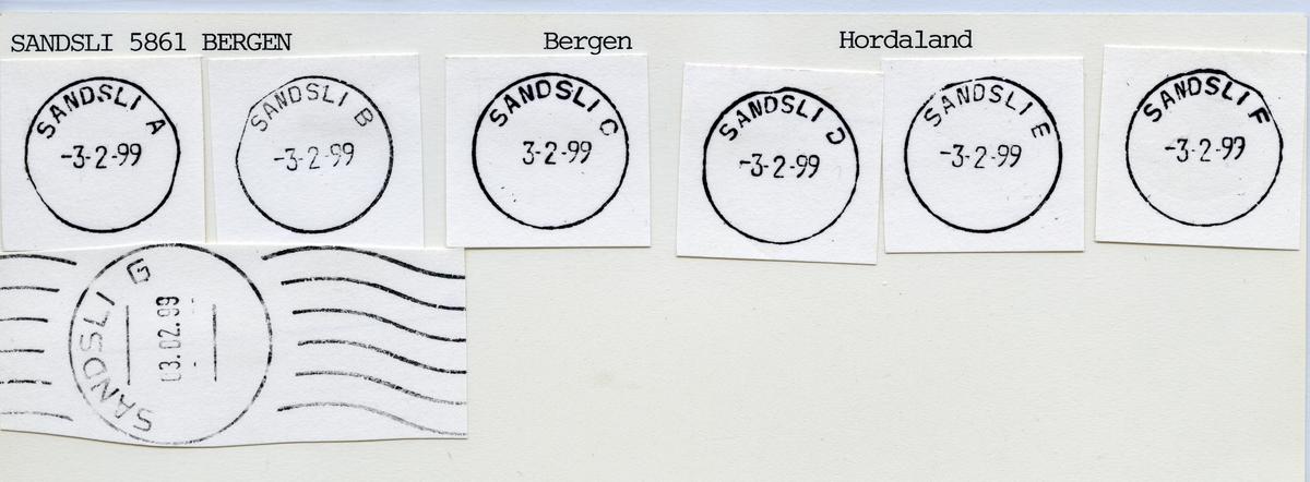 Stempelkatalog 5049 Sandsli, Bergen kommune, Hordaland