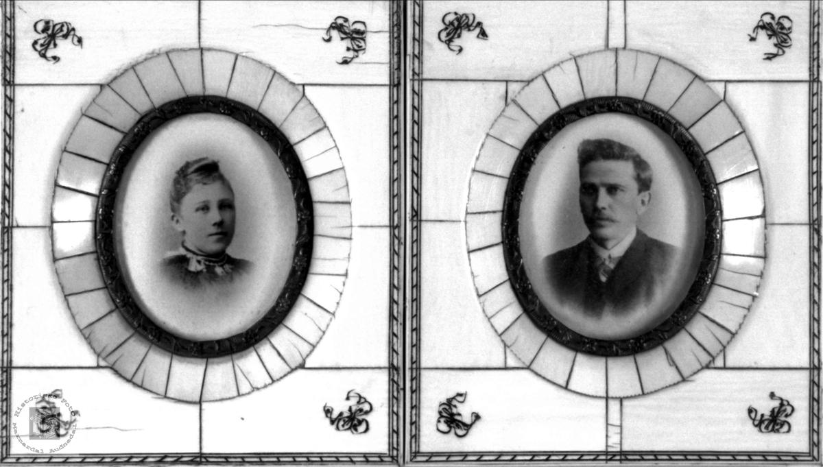 Ektepar: Amalie Lømsland Høye og Knut Simonsen Høye