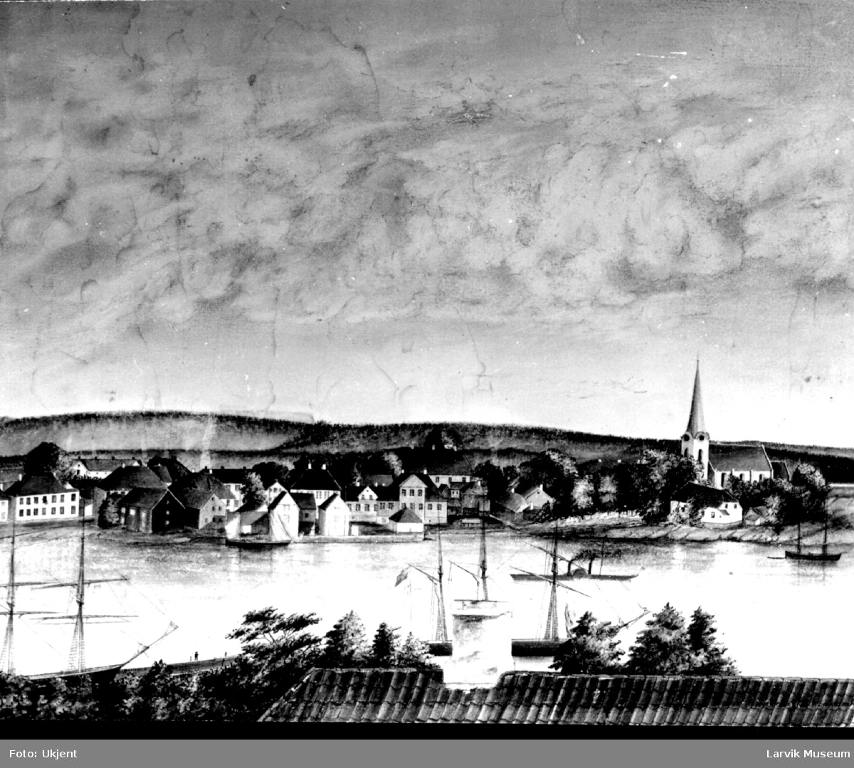 bebyggelse, oversiktsbilde, Larvik
