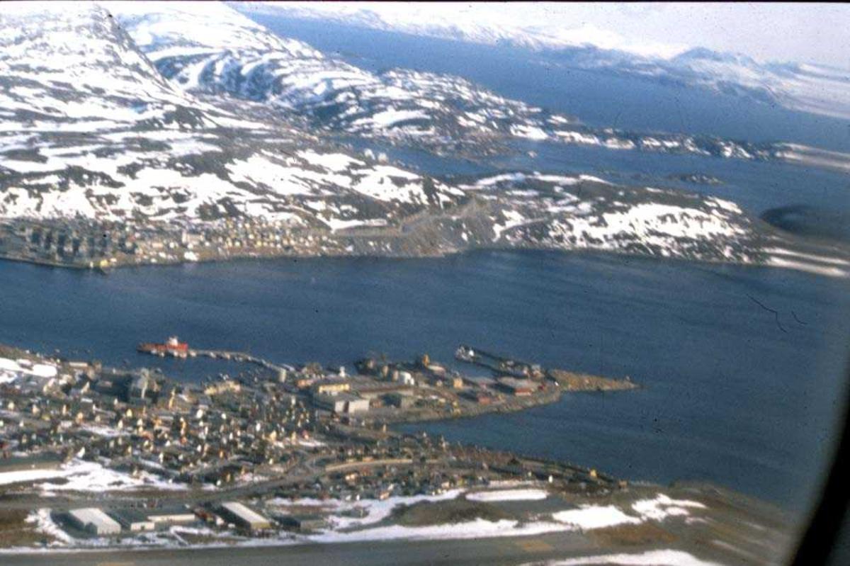 Luftfoto. Hammerfest. Verdens nordligste by.