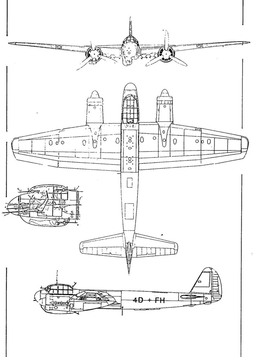 Treplanskisse, Junkers JU 88.