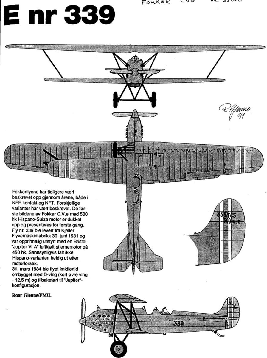 Treplanskisse, Fokker CVE.