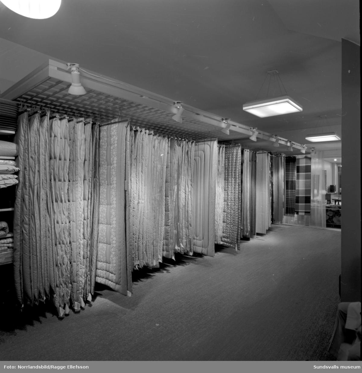 Forsbergs möbler i Sundsvall, interiörbilder.