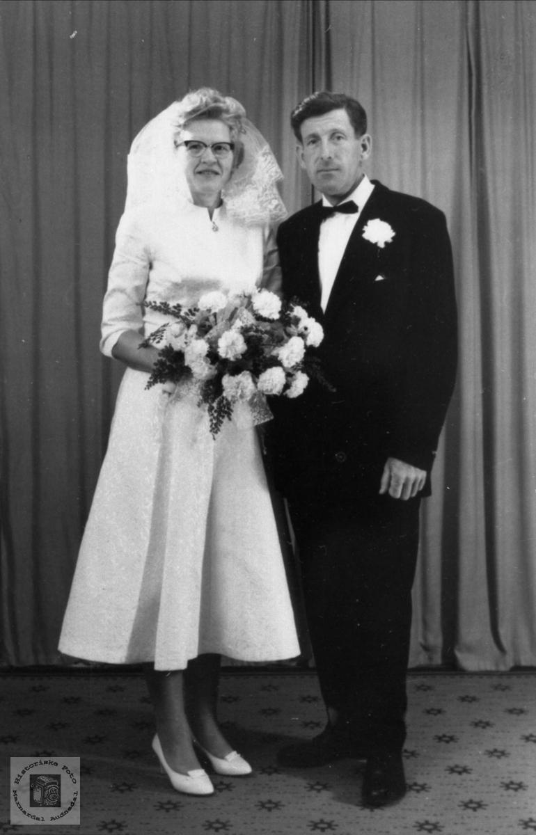 Brudeparet Randi og Jens Rustad