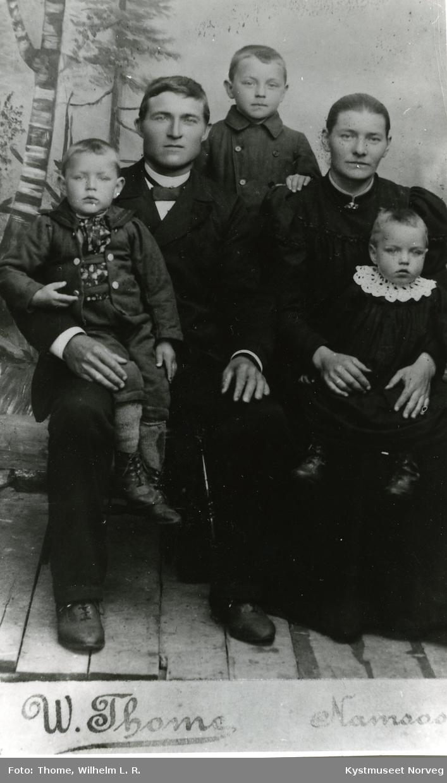Bernhard, Kornelius, Edvin, Martha og Søren Brandtzæg
