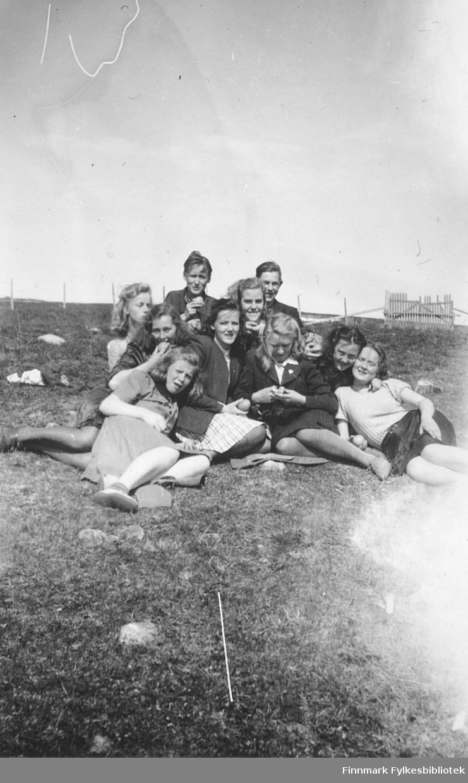 Elever ved Vadsø middelskole, 2. klasse i 1946