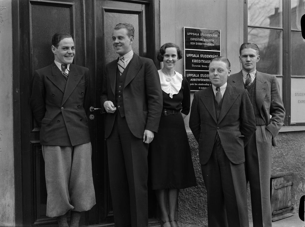 Anställda vid Uppsala Studentkår, Uppsala 1938