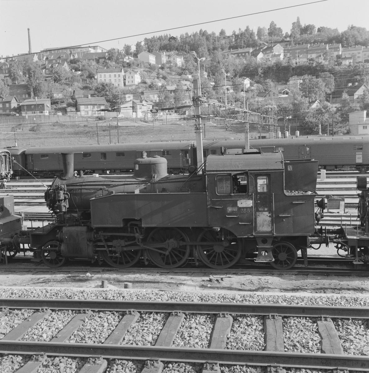 Hensatte damplokomotiver i Lodalen i Oslo.