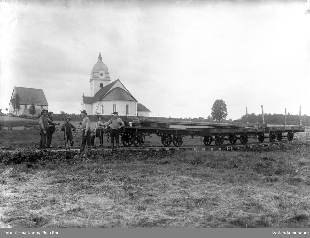 Järnvägsbygget vid Alseda kyrka
