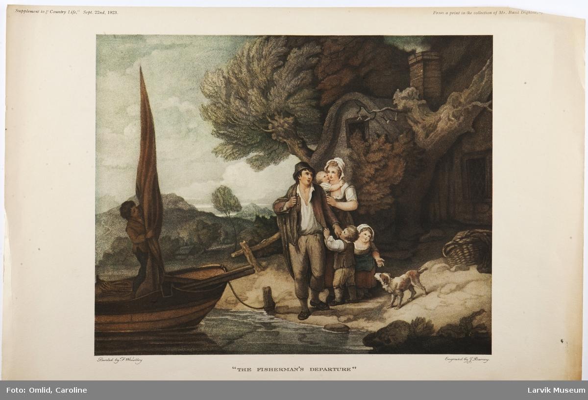 """The fisherman's departure""."