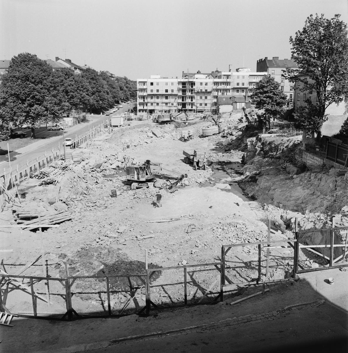 Övrigt: Foto datum: 8/6 1965 Byggnader och kranar Kvarteret pollux