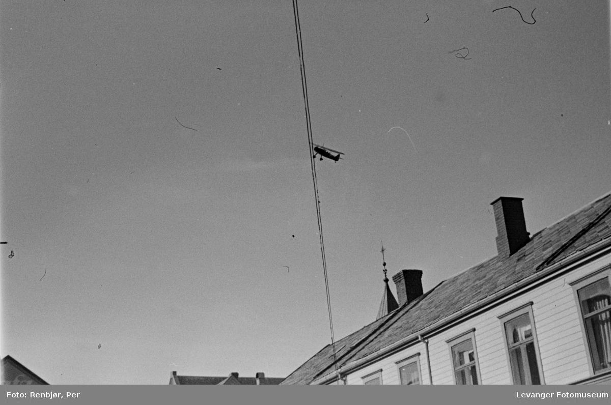 Oppklaringsfly over Levanger sentrum i aprildagene 1940