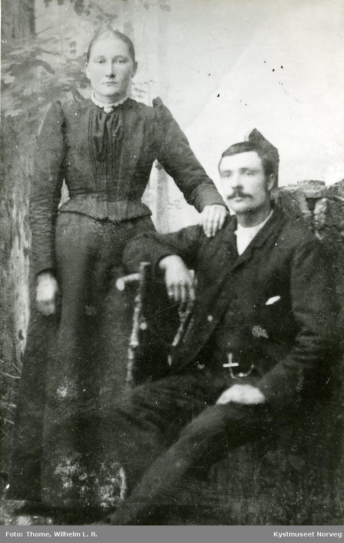 Alvilde Nilsdatter Hatland og Laurits Hatland