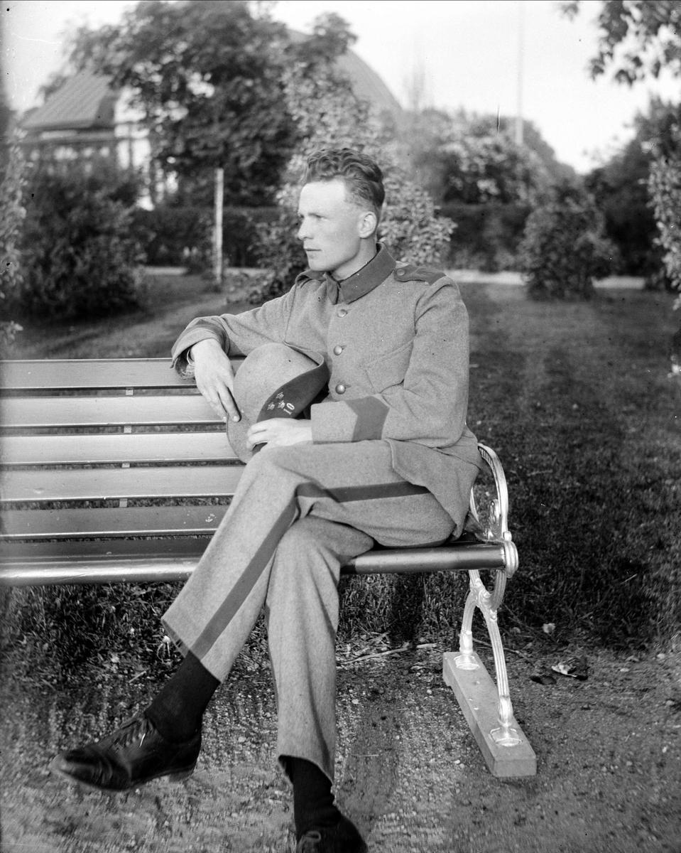 Gösta Krantz i militäruniform, Uppsala