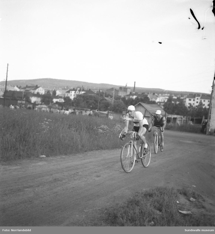 TT-loppet på cykel i Sundsvall. Tävlingen körs på Norrmalm i trakterna kring Idrottsparken, tennishallen och Västhagen.