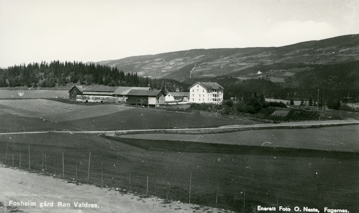 Bygninger på Fossheim gård i Vestre Slidre