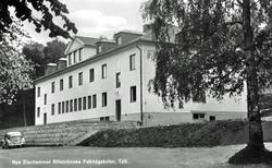 """Text på kortet:"""" Nya Elevhemmet Billströmska Folkhögskolan T"""