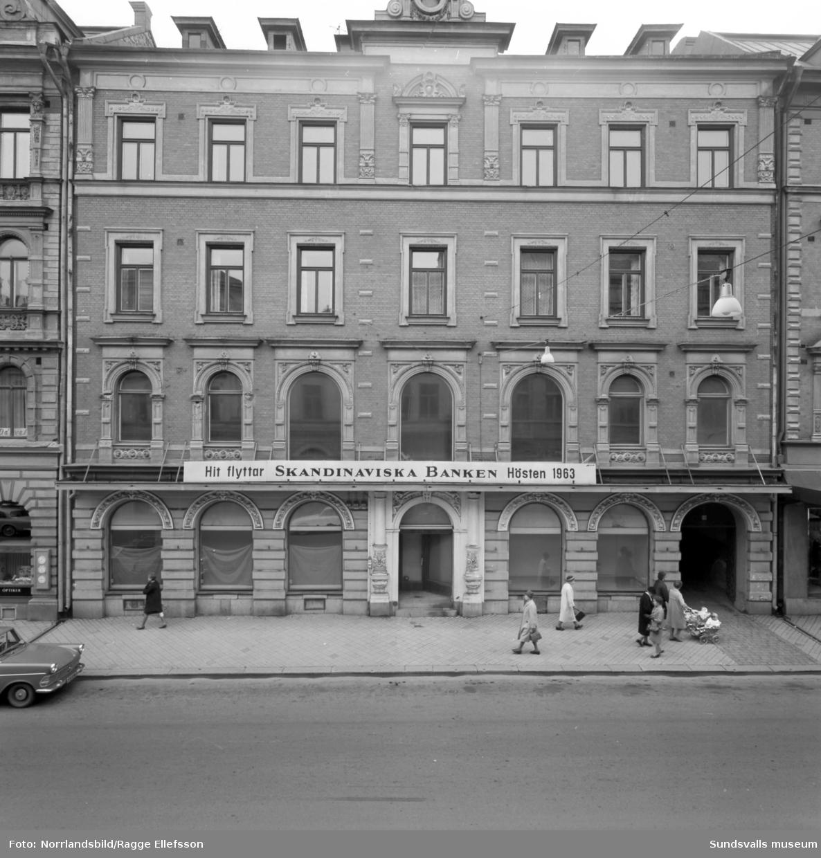 Fasaden på huset vid Storgatan 19 där Skandinaviska Enskilda Banken ska flytta in, före detta Frans Petterssons.