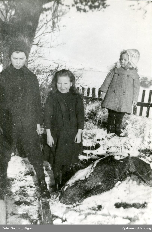 Paul, Dagny og Solveig Lindseth