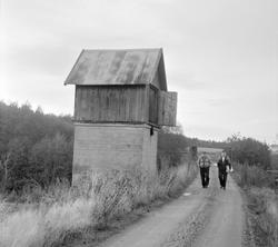 Vanntårnet ved Fresti stasjon på nedlagte Tønsberg-Eidsfossb