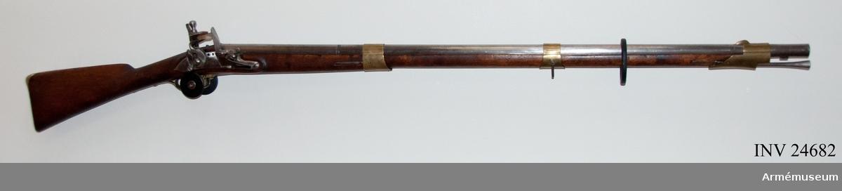 Grupp E II b. Gevär 1815 års reparationsmodell. Tillv.nr 1287.