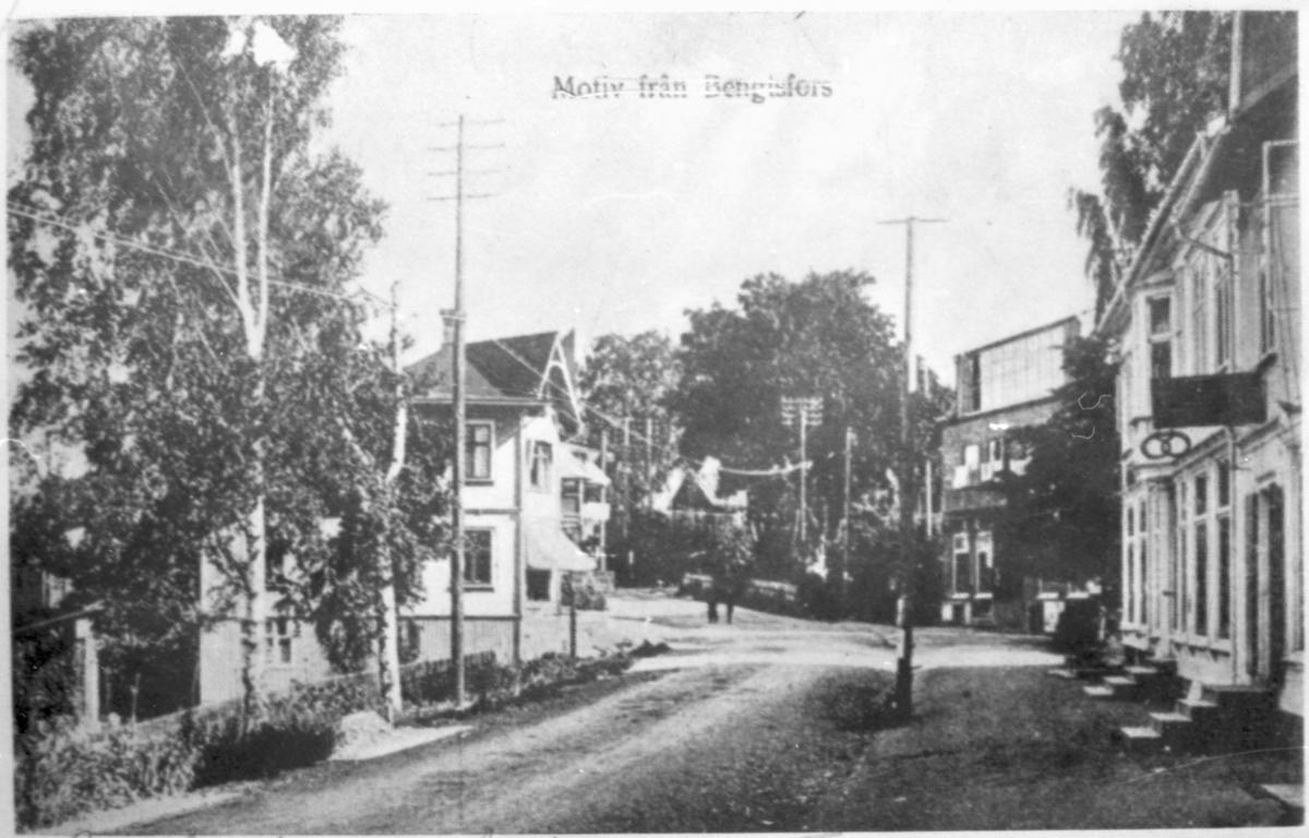 Gatubild från centrum av Bengtsfors
