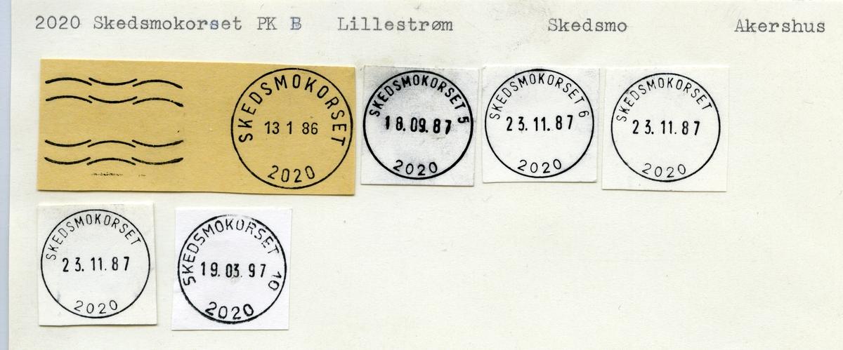 Stempelkatalog  2020 Skedsmokorset, Skedsmo kommune, Akershus