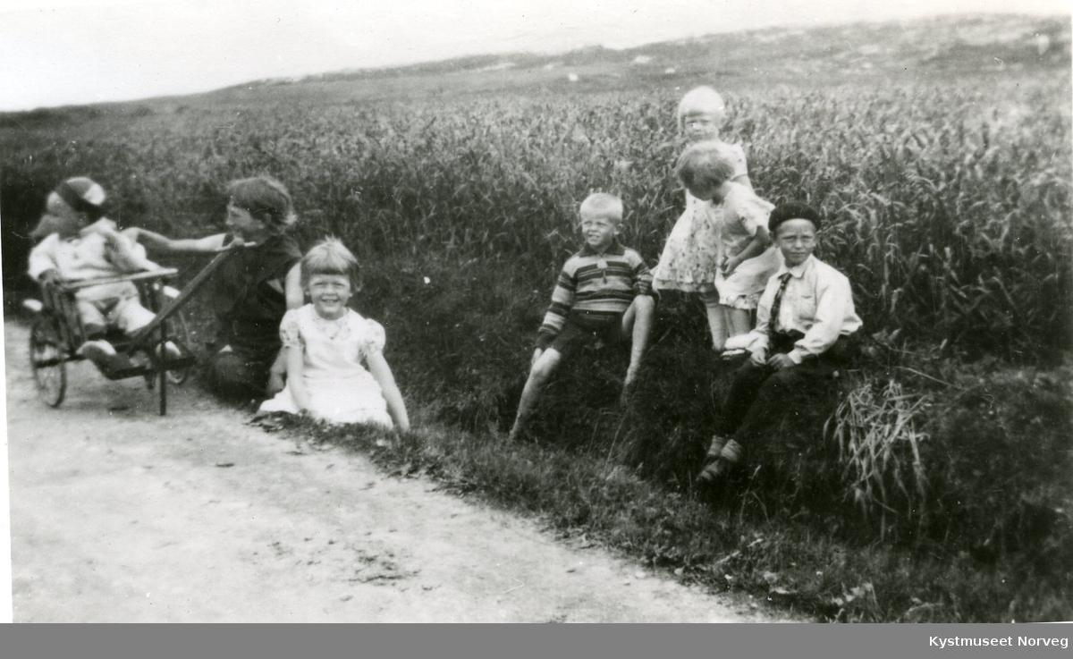 Sverre Rasmussen, Borghild Jentoft, Kirsten, Gudbrand, Grete, Randi Svendsgaard og Eugen Klette
