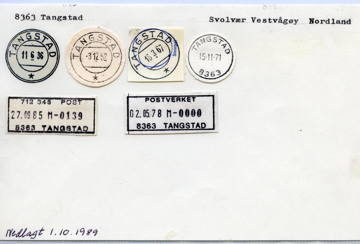 Stempelkatalog 8363 Tangstad, Vestvågøy, Nordland