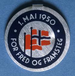 Arbeiderpartiets 1. mai-merke fra 1950
