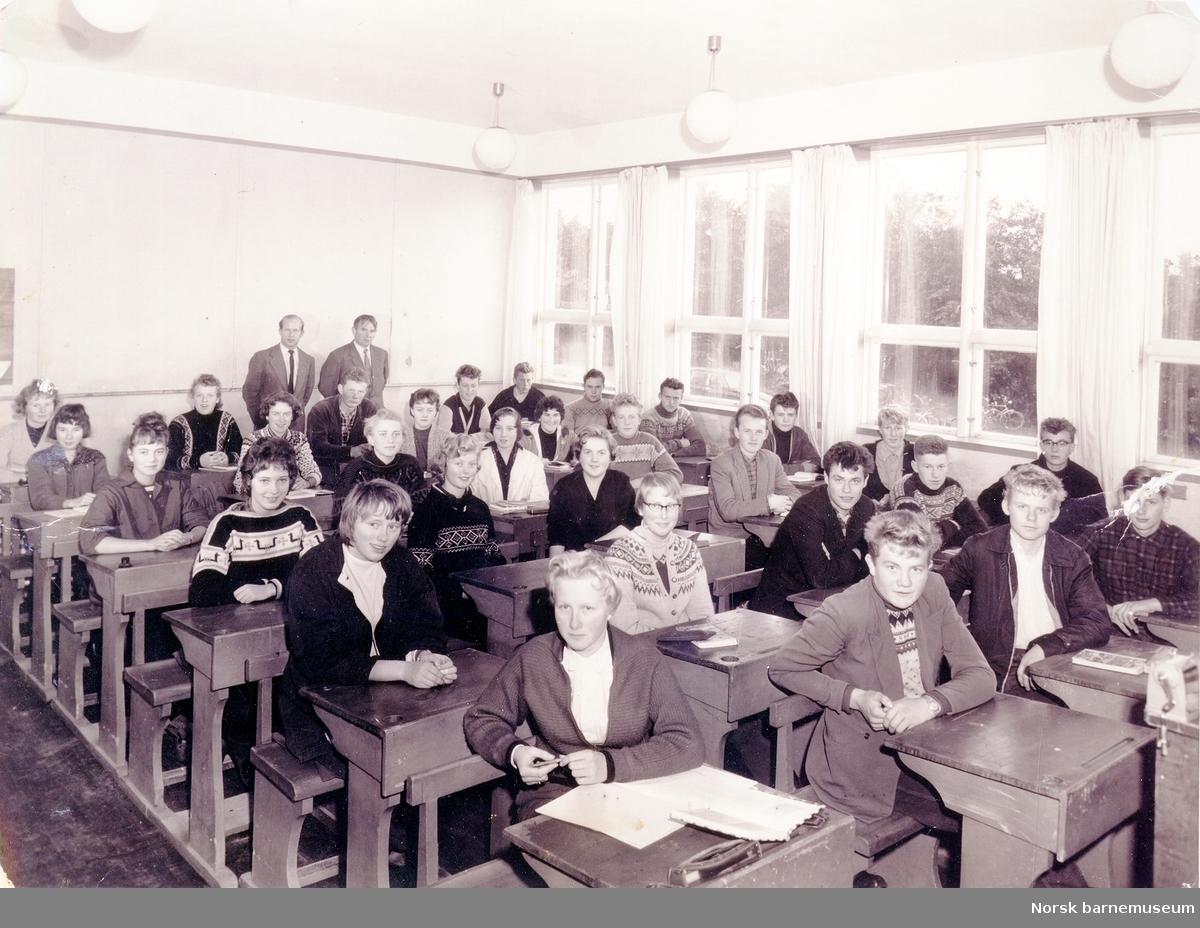 """Bryne statsrealskole, 1957 i """"1900-huset"""" på Bryne."""