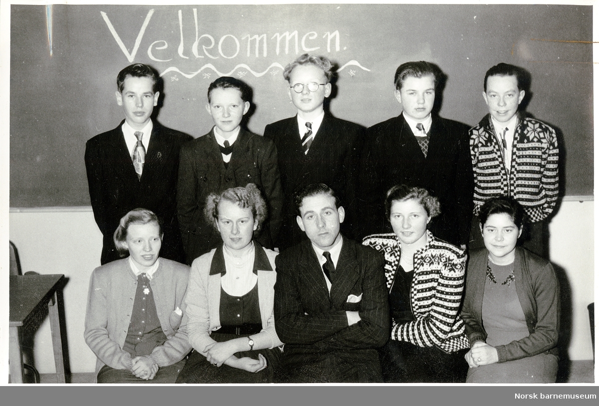 Klassebilde ved framhaldsskolen i Stavanger