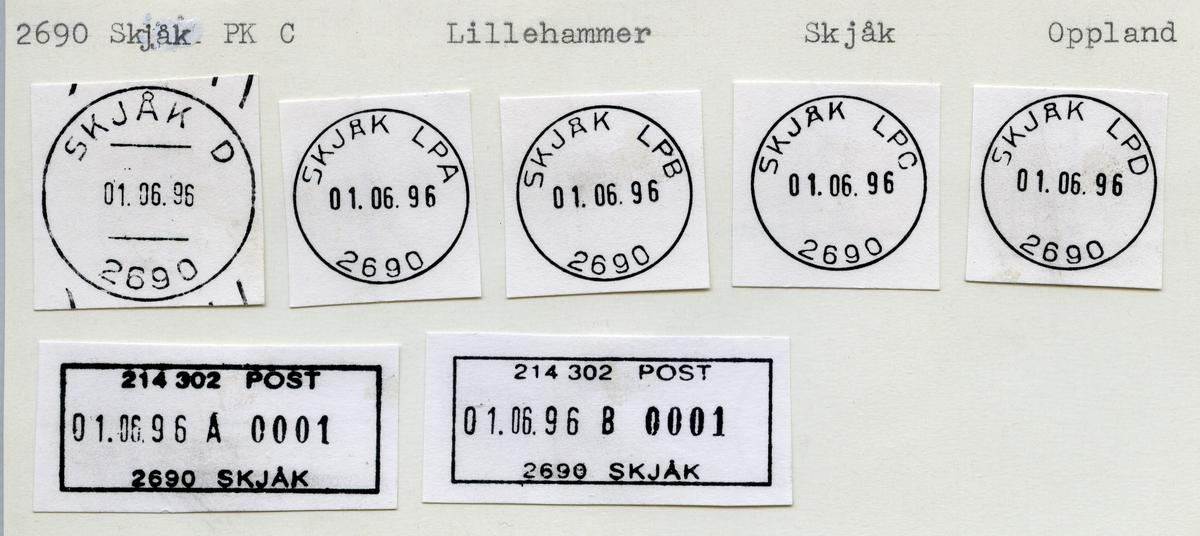 Stempelkatalog  2690 Skjåk, Skjåk kommune, Oppland