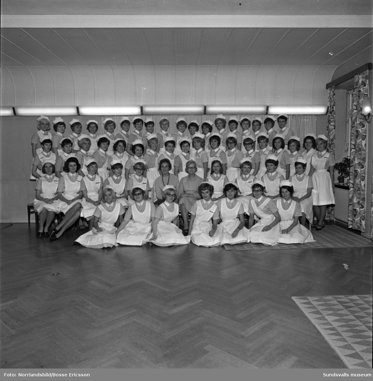 Sjuksköterskeskolan, gruppbild.