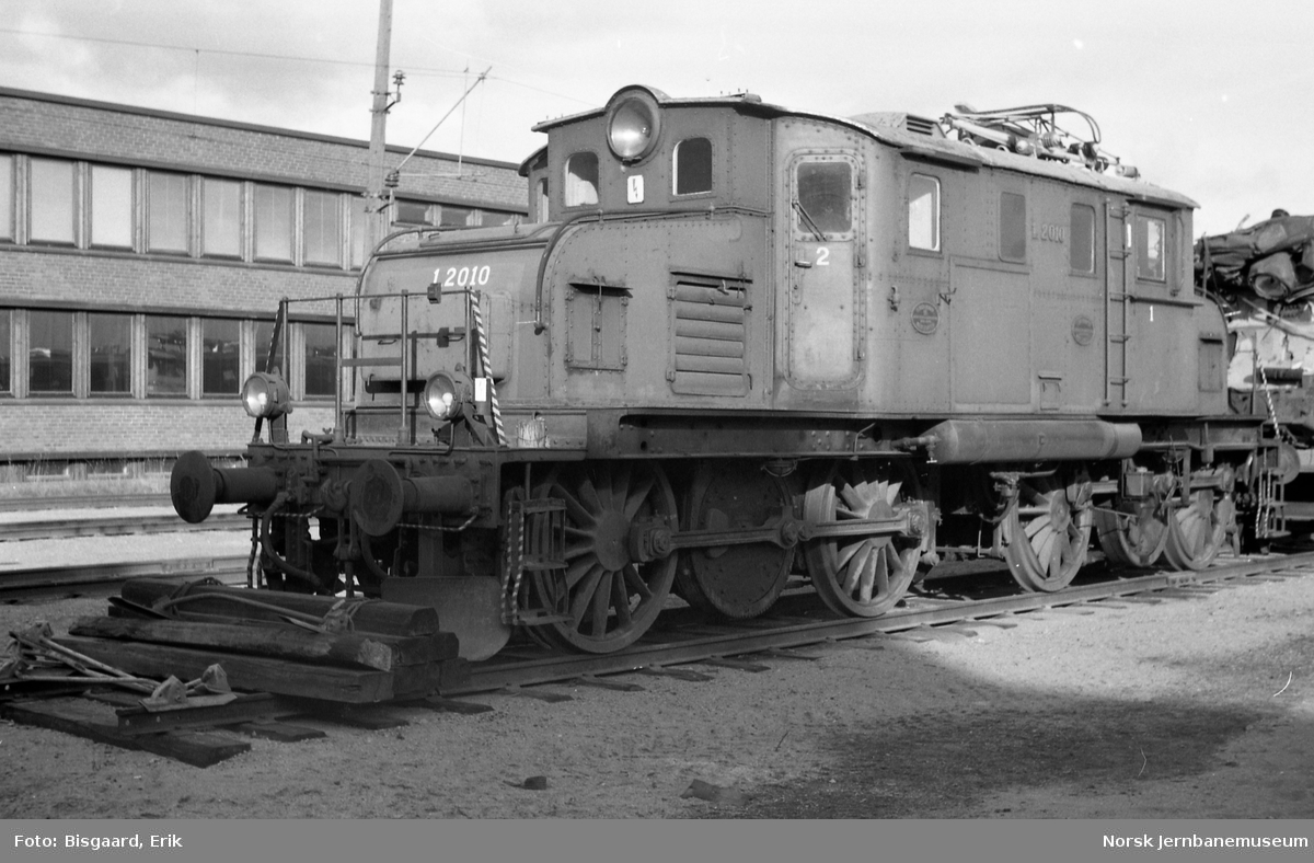Elektrisk lokomotiv El 1 2010 på Verkstedet Grorud
