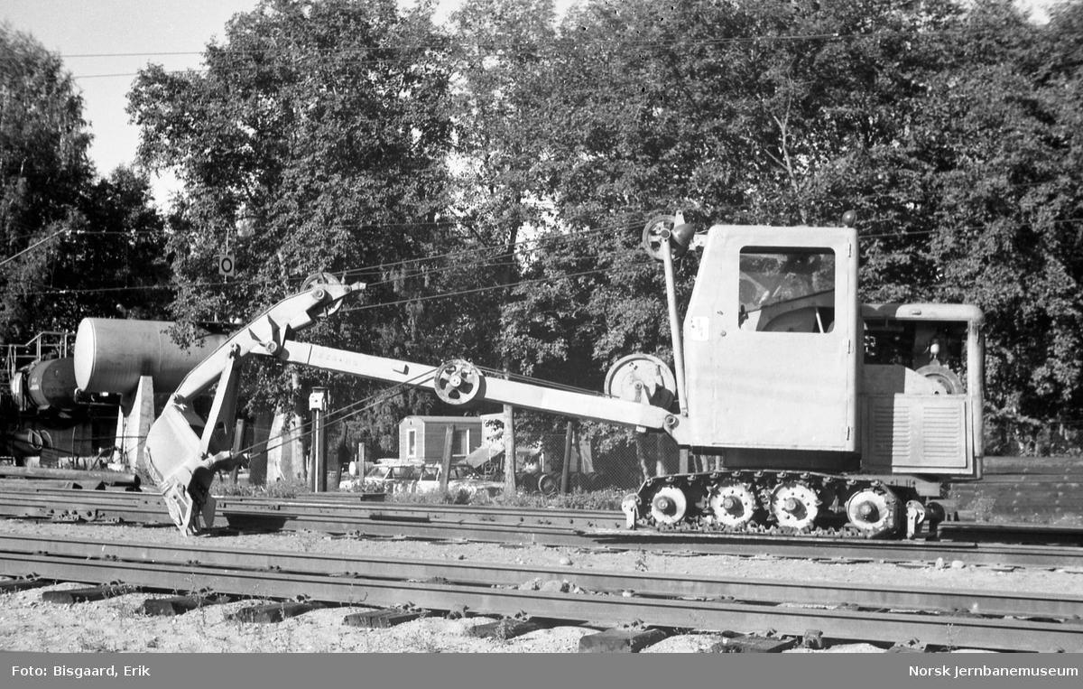 Nordest gravemaskin tilhørende NSB Baneavdelingen