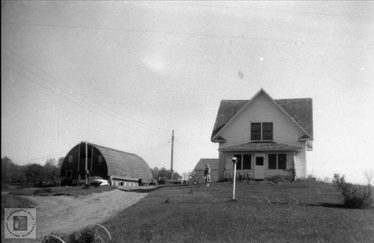 Liten farmbygning i Minnesota.