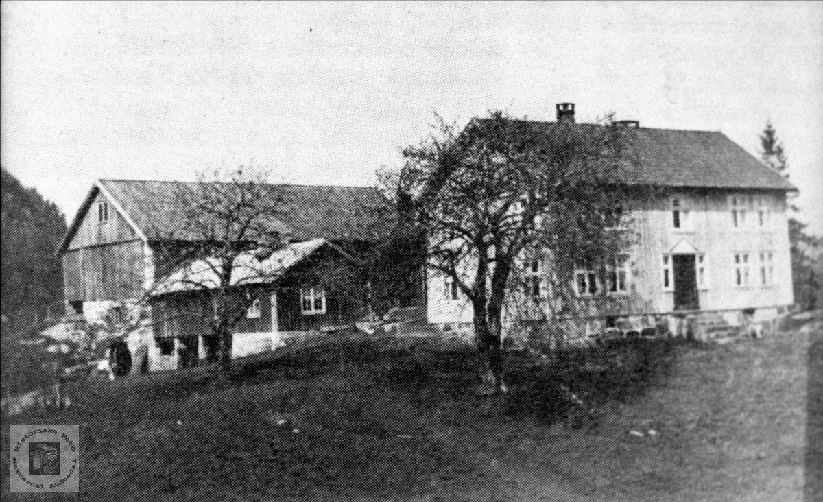 """Sætehusa Gamlestova """"der oppe"""", bygd 1867."""