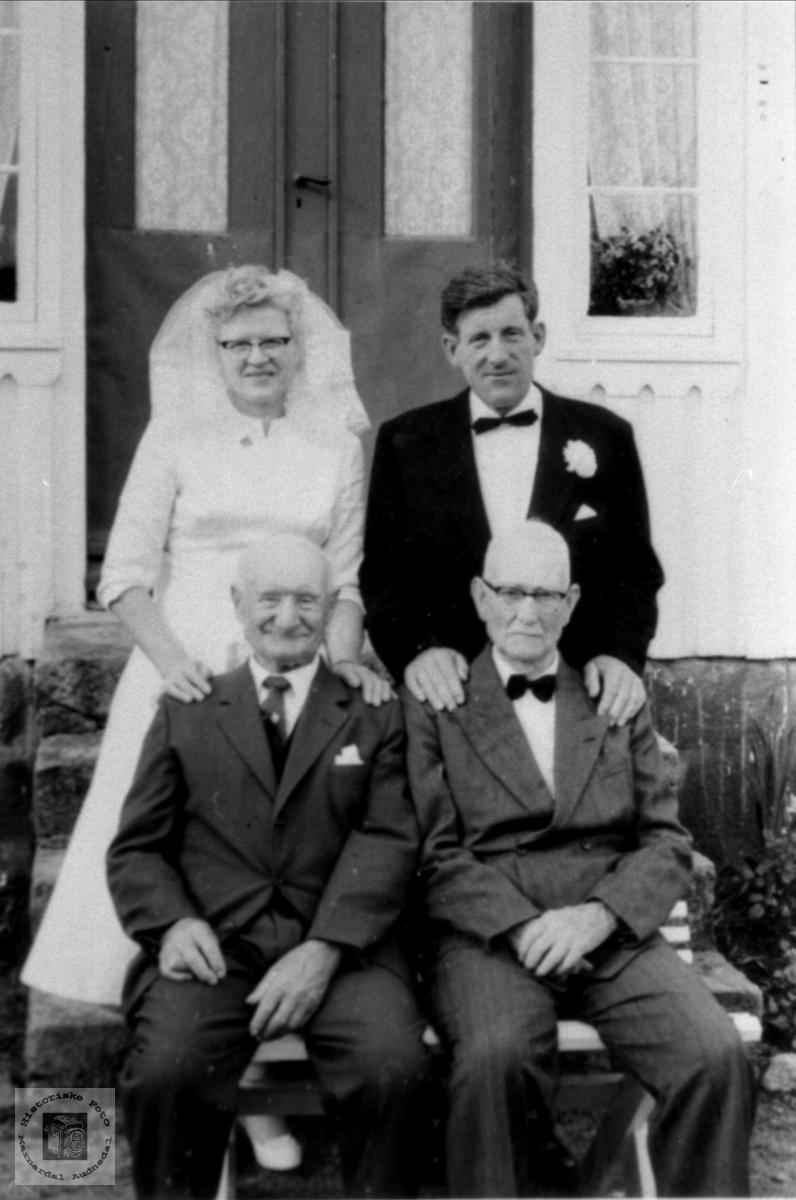 Brudepar. Randi og Jens Rustad.