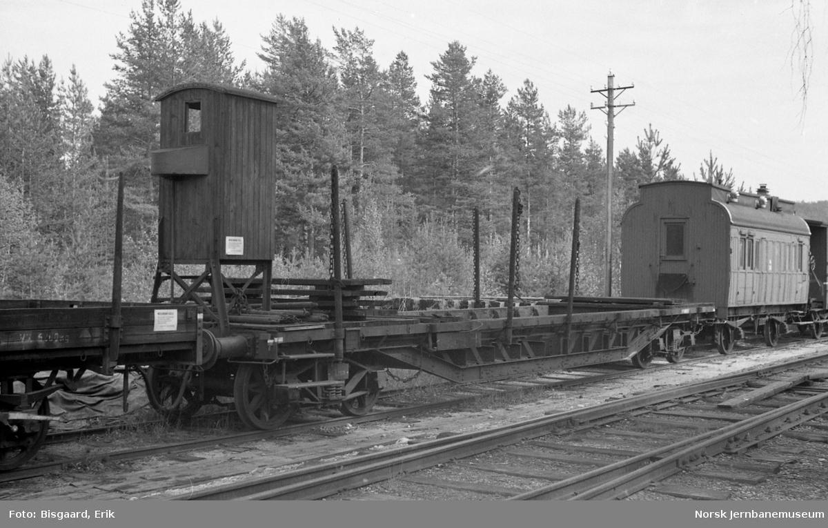 Spesialvogn litra Tsfo3 nr. 5406 på Krøderen stasjon