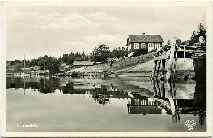 Text på vykortet: SUndsandvik