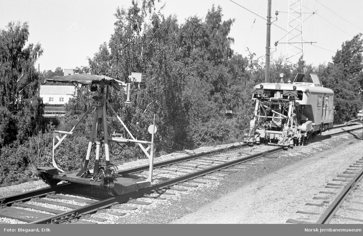 Svillepakkmaskin i arbeid ved Ski, litra Xpm nr. 1363