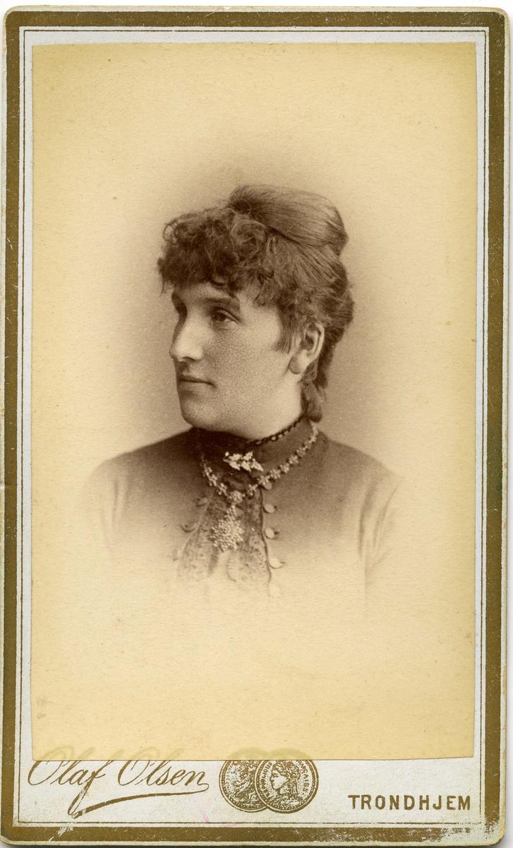 Ukjent kvinne. Bildet tatt en gang i løpet av siste halvdel av 1800-tallet.