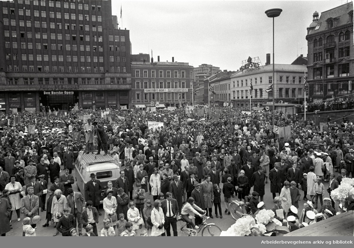 1. mai 1968, Youngstorget.