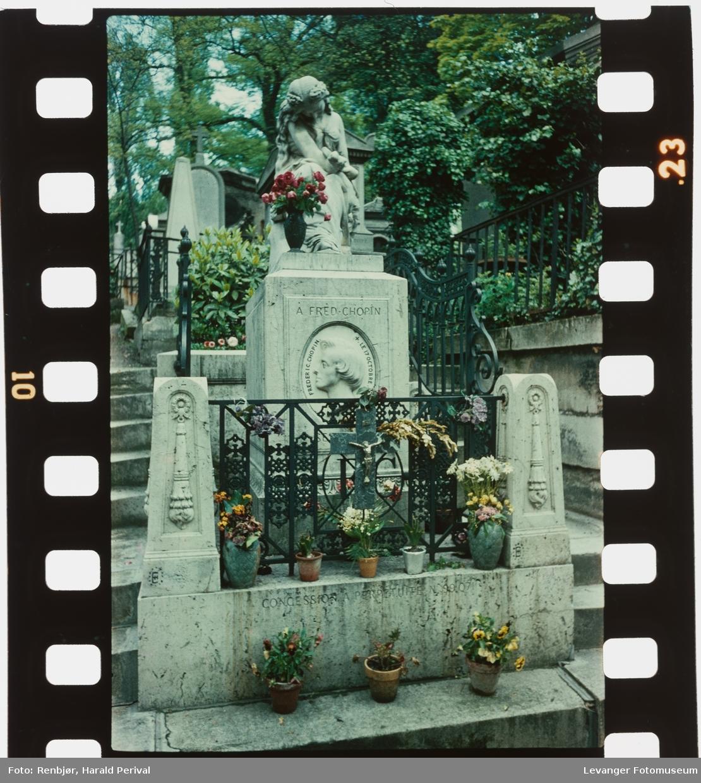 Fryderyk ( Frederic) Chopins grav, designet av Clesinger.