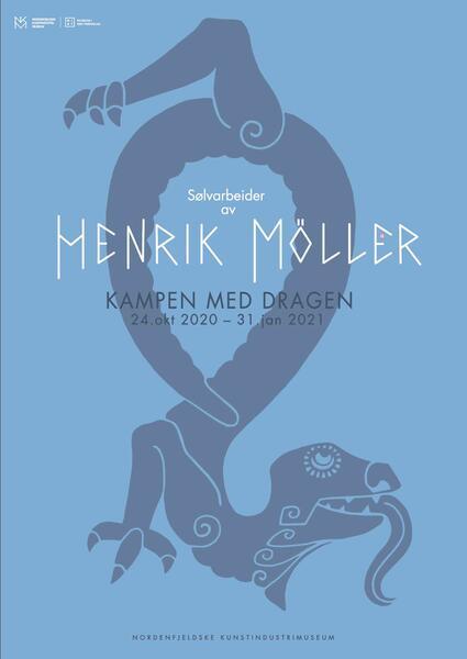 Kampen med dragen: Sølvarbeider av Henrik B. Møller. Foto/Photo