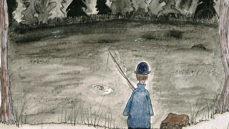 """Fra utstillingen """"Huldra ved Svarttjern""""  - Natur og myter i Ullensaker. Illustrasjon: Kjersti Vatnan Ekman (Foto/Photo)"""