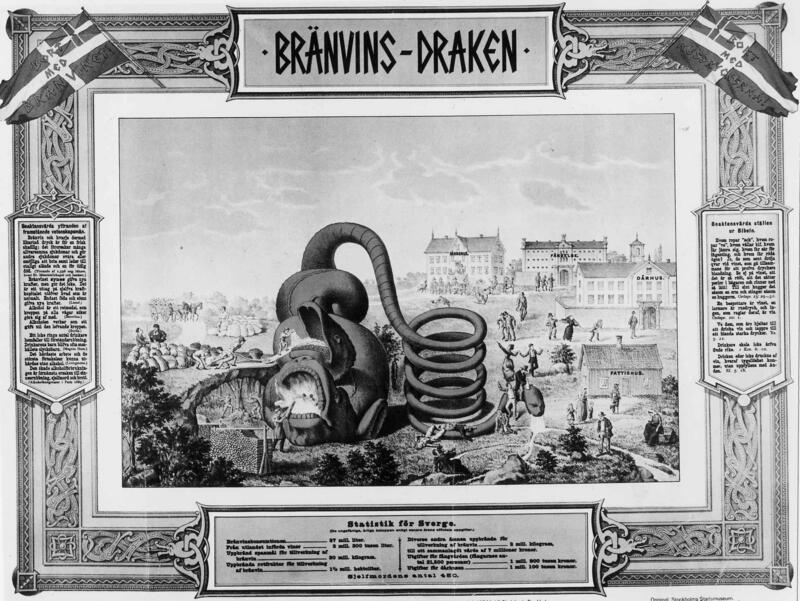 Fra antibrennevinskampanjen på 1890-tallet i Sverige. (Foto/Photo)