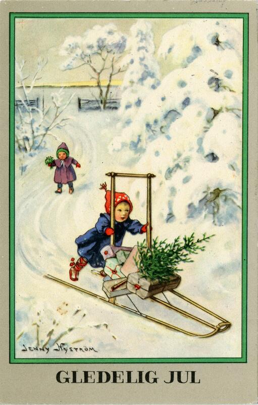 Julekort fra 1928 (Foto/Photo)