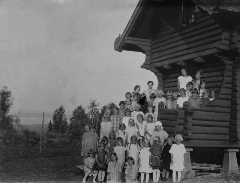 Trudvang feriekoloni, ca. 1928, Østre Toten. Foto: Mjøsmuseet. (Foto/Photo)